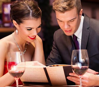 Etiquette Dinner Couple Valentines